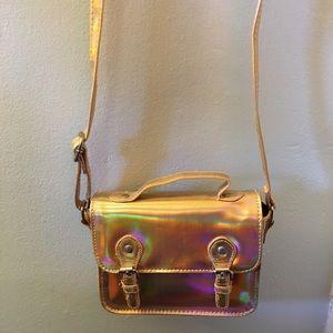 ASOS Gold Holographic Mini Crossbody Bag